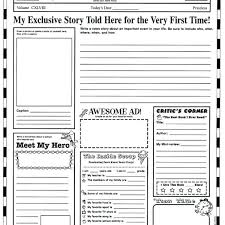Newspaper Templates Free Word Documents Pertaining To Blank Template