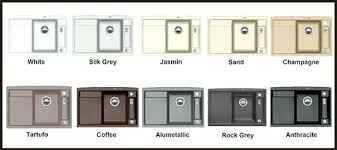 Blanco Sink Colors Chart New Decoration Silgranit Sink Colours Colors For Idea Blanco