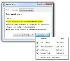 to do lis reminder software reminders program fror windows swift to do list