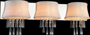 3 light vanity light with chrome finish