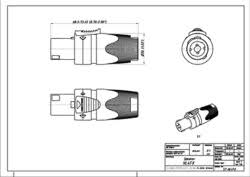 neutrik nl4 fx th n uk technical drawing