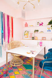 Finished office makeover Ideas My Colorful Office Makeover Studio Diy Studio Diy Hq My Office Reveal Studio Diy