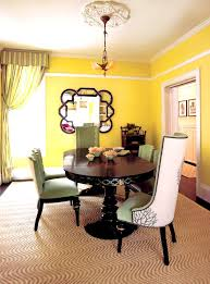 green dining room with chair rail. high chair rail dining room eclectic with yellow walls square standard height tables green