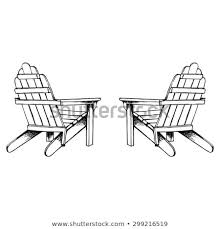 adirondack chair vector.  Vector Adirondack Chairs Hand Sketch Intended Chair Vector