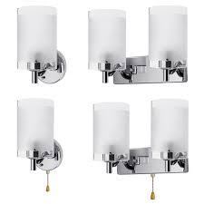details about modern glass wall light sconce lighting lamp fixture indoor bedroom decor e14