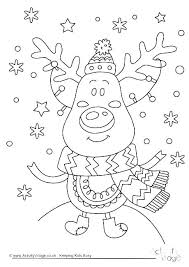 Rudolph The Red Nosed Reindeer And Santa Coloring Pages