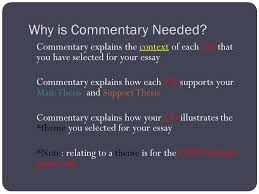 how to write a good commentary lessons teach mr king j110 writing good commentary after this presentation
