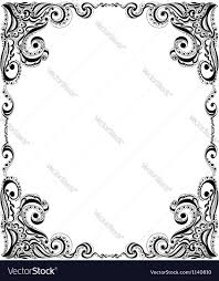 Card Frame Design Template Frame Design For Card Floral Pattern