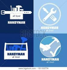 handyman business handyman business sign vector set vector photo bigstock