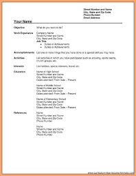 Resume Format Free biodata for job format free download good resume examples 14