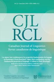Canadian Journal Of Linguisticsrevue Canadienne De Linguistique