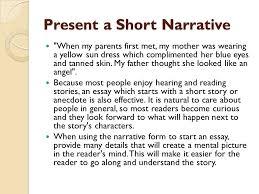 interesting ways to start an essay ppt video online 6 present a short narrative when my parents