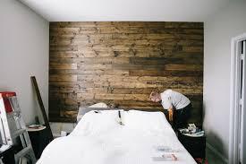 master bedroom wall wood plank
