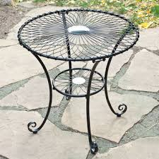 gloss black steel 30 inch round outdoor patio bistro table sea