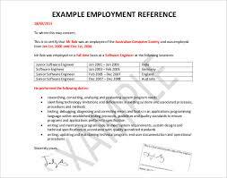Employment References Examples Rome Fontanacountryinn Com