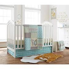 levtex baby little arrow 4 piece crib bedding set aqua green yellow grey