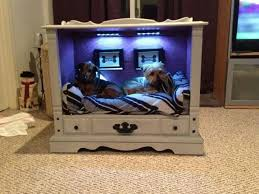 innovative diy pet bed idea made from an old tv cabinet