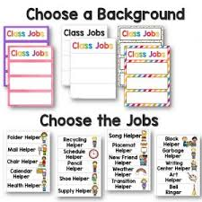 Classroom Job Chart Printable Free Classroom Jobs Helper Chart And Ideas Preschool Inspirations