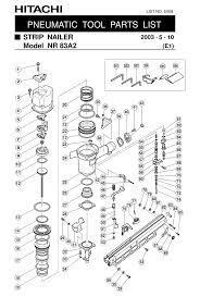 hitachi nr83a2 parts list pdf