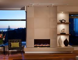 concrete fireplace tiles contemporary