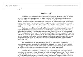 gangster love gcse english marked by teachers com document image preview