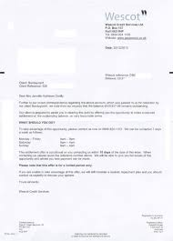 Wescot Credit Services Collection Letter