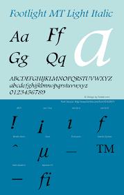 Footlight Mt Font Family Footlight Mt Serif Typeface Fontke Com