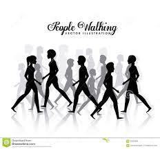 People Walking Design Stock Vector Illustration Of Sport 63235888
