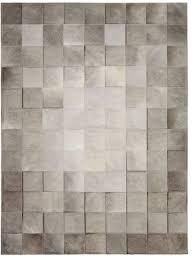 park heather grey cowhide rug
