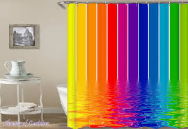 colorful shower curtains. Brilliant Curtains Shower Curtain Of Melting Rainbow Colors Intended Colorful Curtains C