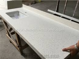 Quartz is a popular choice for kitchen countertops because it is harder than other materials and can take a lot of abuse. China Crystal White Quartz Countertops 3cm Thick Countertops Quartz Kitchen Countertops Square Flat Edges Countertops Countertops With Sinks One Piece Kitchen Sink And Countertop Stonecontact Com