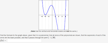 2 3 note that the vertical and horizontal scales are not the same the equation for a cubic polynomial