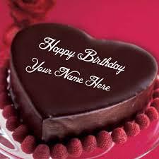 write name happy birthday chocolate