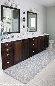 endearing double sink bathroom rugs lake house master bath makeover runners bathrooms decor and