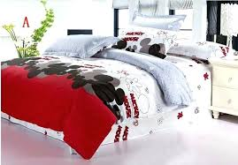 minnie mouse duvet cover mouse queen size bedding cotton mickey comforter set bedclothes bed cover