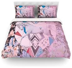 vasare nar unicorn featherweight duvet cover twin 68 x88 eclectic