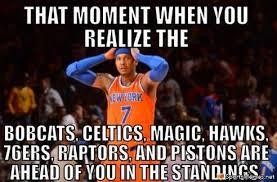 Tough Times for Knicks Meme via Relatably.com