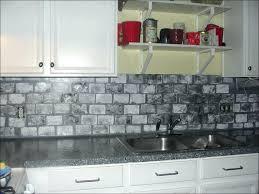 light gray subway tile backsplash white with grey grout glass dark cabinets