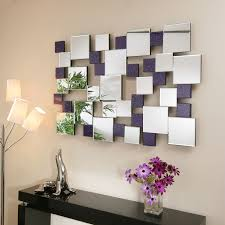 mirror wall art. abstract mirror wall art with acrylic r