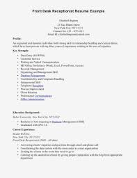 Reception Resume Medical Receptionist Resume Examples Officeple Job And
