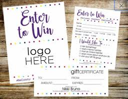 Color Street Enter To Win Color Street Door Prize Drawing Slip Raffle Ticket Contest Form Direct Sales Vendor Event Lead Slip