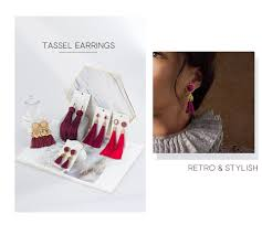 BICUX <b>Bohemian Tassel</b> Drop Earrings for Women Fashion ...