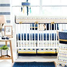 aztec baby bedding navy gold mint crib desert sky collection p