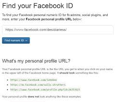 enter facebook page url and then it will show you id of your facebook page