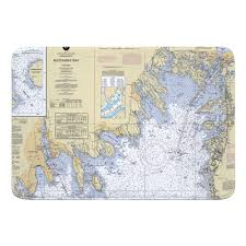 Nautical Chart Buzzards Bay Ma Ma Buzzards Bay Ma Nautical Chart Memory Foam Bath Mat