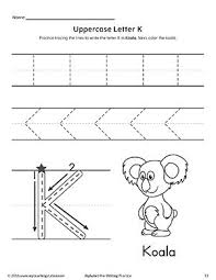 Writing Practice Worksheet Pre K Writing Uppercase Letter K Writing Practice Worksheet