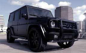 Another creation by ultimate audio and celebrity cars. Mercedes Benz G Class Matte Black