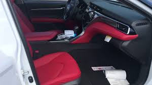 2018 toyota white camry with red interior. contemporary toyota 2018 toyota camry xse with red leather interior and toyota white camry red interior
