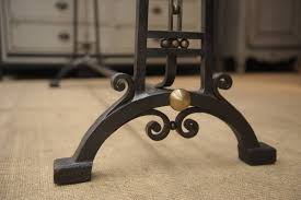 Brass Coat Racks French Art Deco Wrought Iron and Brass Coat Rack circa 10000 at 100stdibs 86