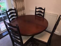 dark oak priory dining room table chairs and sidboard in wrexham gumtree
